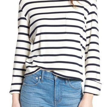 Bishop + Young Stripe Lace-Up Back Top | Nordstrom