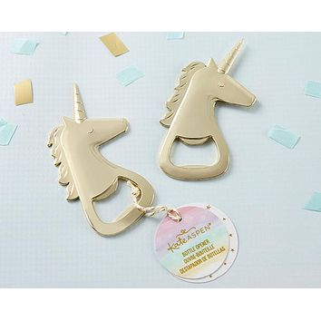 Gold Unicorn Bottle Opener