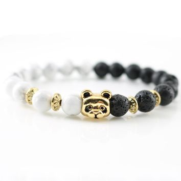 Antique Gold Panda Charm Bracelets New Design