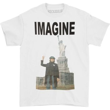 John Lennon Men's  John Lennon Imagine Peace Sign T-shirt White