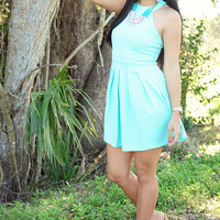 Vibrant Thoughts Dress: Mint