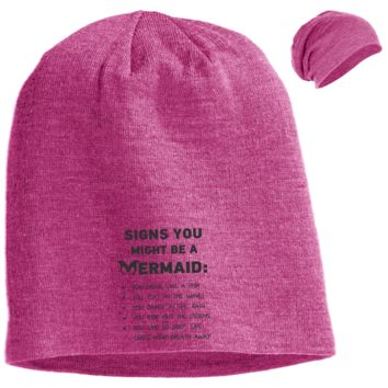 Signs You Might Be A Mermaid Slouch Beanie