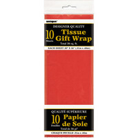 Walmart: Red Tissue Paper Sheets, 10pk