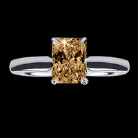 1 ct. Brown diamond solitaire anniversary ring gold new