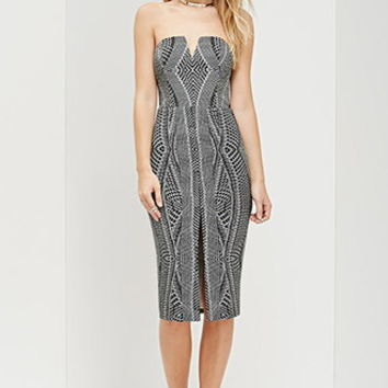 Ministry of Style Wintertide Strapless Dress