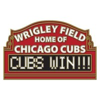 CHICAGO CUBS WRIGLEY FIELD HOME OF CHICAGO CUBS CUBS WIN! COLLECTOR PIN WINCRAFT