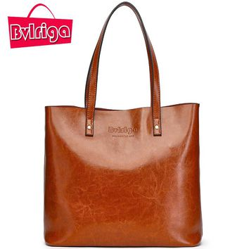 Bvlriga Famous Brand Genuine Leather Handbag Women Briefcase Big Sac