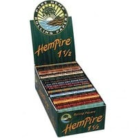 Hempire Regular Size Wide Hemp Rolling Papers - Box of 25 Packs - Sishas/Hookahs - Bongs and Waterpipes - Smoking Pipes - Grasscity.com