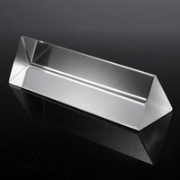 10cm Physics Optical Glass Triple Triangular Prism