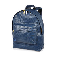 River Island MensNavy Mipac perforated backpack