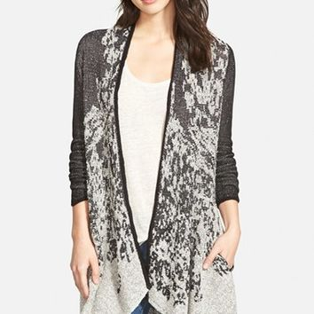 Women's NIC+ZOE 'Nightfade' Jacquard Long Cardigan,