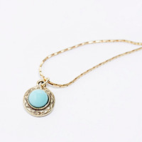 Turquoise Stone Choker in Gold - Urban Outfitters