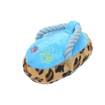 Dogs Toy Slipper Shape Squeaky Toys Pet Puppy Chew Play Plush Supplies Factory Direct