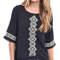 Be Peasant Embroidered Woven Blouse