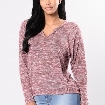 Too Cool Top - Heather Red