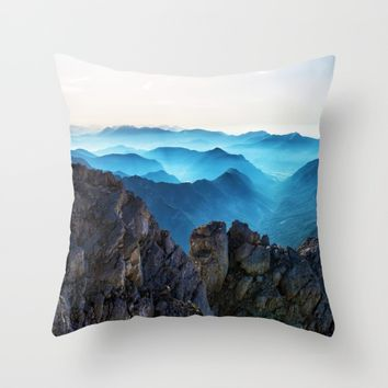 Mountains Breathe Too Throw Pillow by Mixed Imagery
