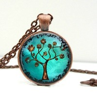 Copper Tree Dome Pendant Necklace - Copper Tree Art