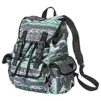 MOSSIMO SUPPLY CO. Gray/Teal Print Backpack
