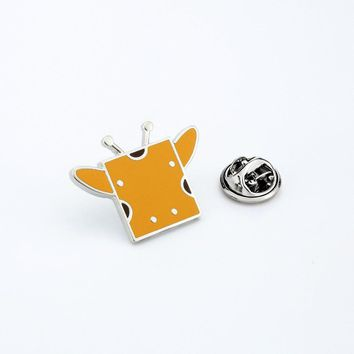 Cartoon Insect Brooches Square Bee Enamel Pin for Boys Girls Lapel Pin Hat/bag Pins Denim Jacket Women Brooch Badge Q348