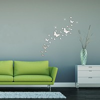 30PC Butterfly Combination 3D Mirror Wall Stickers