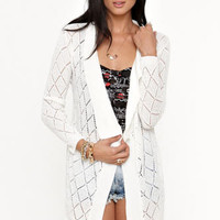 Kirra Pointelle Cardigan at PacSun.com