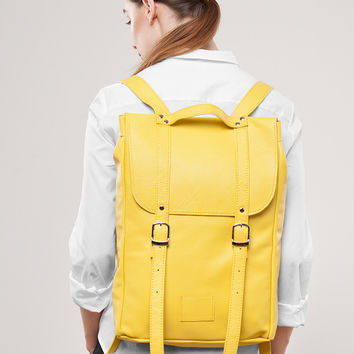 Lemon Leather Backpack