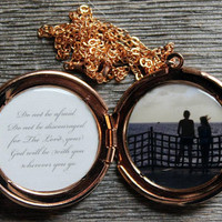 Custom Personalized Secret Message and Photo Locket - Great Mother's Day, Valentine's Day, Grandmother, Daughter, Best Friend gift
