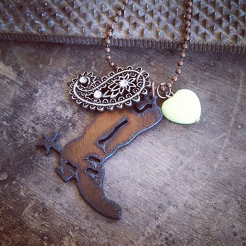 Cowgirl Boot Necklace