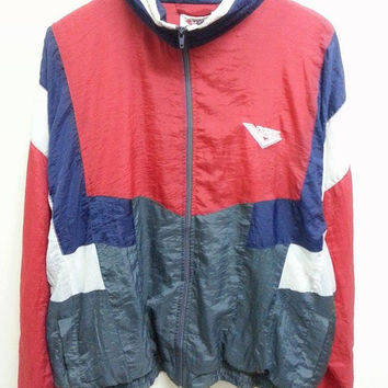 Sale Vintage 1980s 90s Pony Colourfull Sweater Windbreaker Hip Hop Jacket