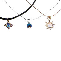 Gold Sun Gems Choker Set