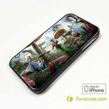ALICE IN WONDERLAND iPhone 4/4S 5/5S/SE 5C 6/6S 7 8 Plus X Case Cover