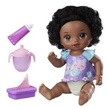 African American Baby Alive Interactive Talking English & Spanish Baby Doll Twinkles and Tinkles