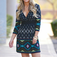 The Midnight Sun Dress - Teal