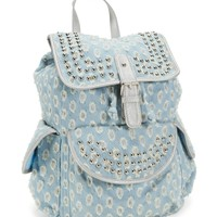 Kids' Destroyed Studded Sparkle Chambray Rucksack