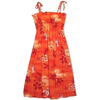 Aurora Orange Moonkiss Hawaiian Dress