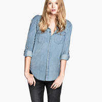 Shirt with studs - from H&M