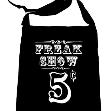 Freak Show Poster Sling Bag Carnivale Circus Book Bag