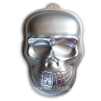 Aluminum Skull Shape Mould Cake Alloy Cake Mold Party event Cake decorating tools Bakeware