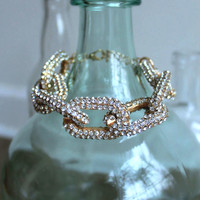 J. Crew inspired Chain Link Pave Bracelet