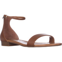 I35 Yaffa Flat Ankle Strap Sandals, Golden Cognac, 9 US
