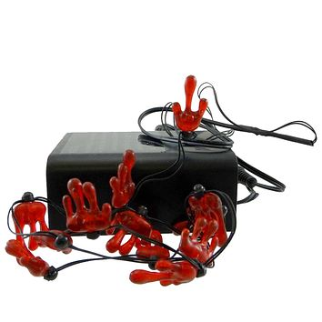 Dept 56 Accessories Bloody Lights String /12 Village Halloween Lights