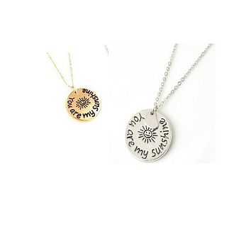 You Are My Sunshine Charm Necklaces