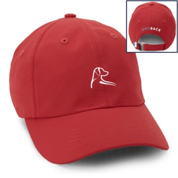 The Poly Performance Hat in Nantucket Red by Rhoback