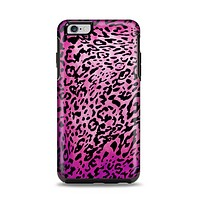 The Hot Pink Cheetah Animal Print Apple iPhone 6 Plus Otterbox Symmetry Case Skin Set