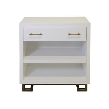 ROTH WHITE BEDSIDE TABLE