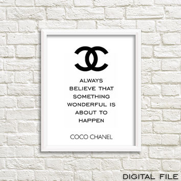 wall decor for girls room Chanel interior modern wall decor high fashion decor chanel theme teen girls room chanel qoute chanel home decor