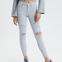AE Ne(X)t Level High-Waisted Jegging, Light Gray