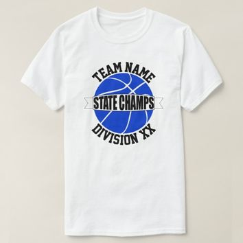 Blue High School Basketball State Champion Team T-Shirt