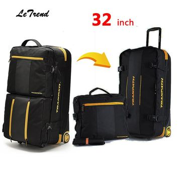 Letrend New Fashion 32 inch High-capacity Rolling Luggage Set