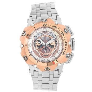 Invicta 16806 Men's Venom Hybrid Chronograph Rose Tone Dial Steel Bracelet Dive Watch